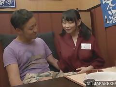 Amazing titjob from slutty Japanese waitress Akane Yoshinag
