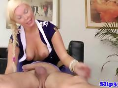 Blonde babe doggystyle with old dude tube porn video