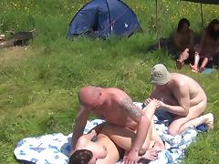 Awesome threesome on the fresh grass