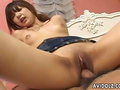 Glorious Asian Babe Goes Hardcore After Serving A Handjob
