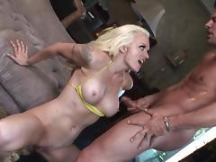 Bikini, Bikini, Blonde, Couple, Cumshot, HD