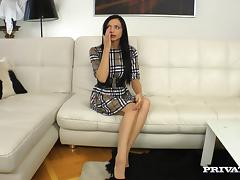Anita Sparkle gets double penetrated and facialed in awesome MMF clip