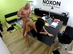 Boss, Blowjob, Boobs, Boss, Brunette, Couple