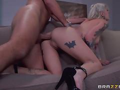 Amazing hardcore sex with the sexy tattooed blonde Kleio Valentien