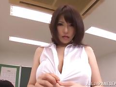 Busty teacher Anri Okita gets fucked at school