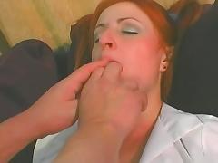 Horny redhead drilled hard by hard dick