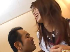 School babe Riko Araki deep penetration