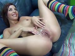 Shana Lane is creampied after being fucked by a big cock