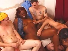 Bi Gangbang on a Black Girl porn tube video