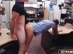 Latina babe stuffs her pussy with pants