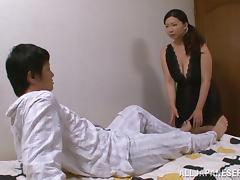 Japanese Couple In A Hardcore Bedtime Fucking