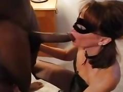 Caged schlong hubby watches wife