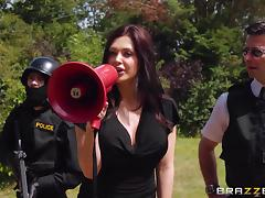 slutty police officer saves the day tube porn video