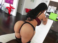 Jewels Jade licks a cockhead and gets her ass fucked deep porn tube video