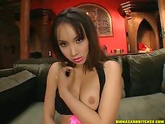 Gorgeous Asian Gets A Nasty Facial After A Hard Ass Fuck