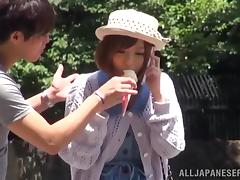 Sexy Japanese Babe Gets Her Pussy Hardcore Fingered In A Car