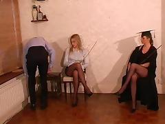 Headmistress and Teacher give Caning Punishment tube porn video