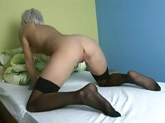 Delightful Natalia Halle Fingers Her Own Shaved Pussy