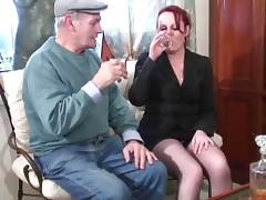 Red headed whore sucks and fucks a grandpas cock tube porn video