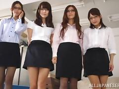 Fabulous Japanese Dolls Serve A Tasty Blowjob In A POV Video
