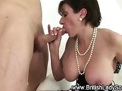 British, Blowjob, Boobs, British, Brunette, Lingerie