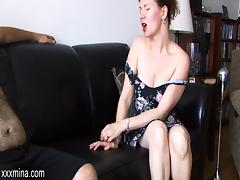 Cougar MILF Yelling As Her Pussy Is Licked Then Fingered