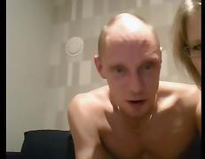 Bald guy fuck hot blonde mature