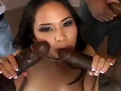 Asian Jessica Bangkok fucks with black dicks tube porn video