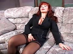 Super red head cougar and guy (Camaster)