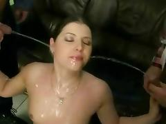 Sluts like her love when she is pissed all over tube porn video