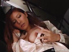 Japanese Solo Model Fingering Her Wet, Hairy Pussy