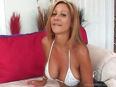 Cougar With Big Tits Giving Her Guy A Superb Blowjob