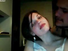 Having fun with my lover on webcam