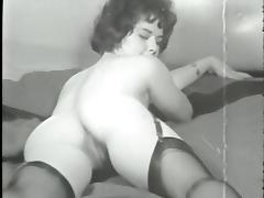 Vintage, Dance, Hairy, Stockings, Vintage, Tits