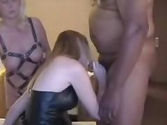 Villein wives swapping darksome cum tube porn video