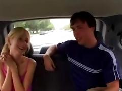 blonde gets fucked by a nerd in the van tube porn video