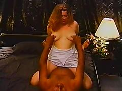 Hardcore interracial sex clip with chubby amateur blonde tube porn video