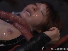 Crazy Japanese Fetish Video of a Girl Fucked by an Alien porn tube video