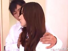 Yuuki Fuwari nasty Asian teen in school uniform gets banged hard