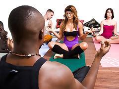 A Sexy Yoga Class tube porn video
