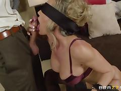 Brandi Love is fucked by a guy after taking off her blindfold tube porn video