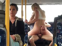 Lindsey Olsen is fucked on a public bus filled with passangers
