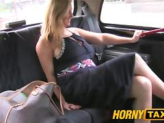 HornyTaxi Horny after interview and gagging for big cock