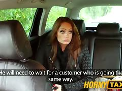 HornyTaxi Hungarian brunette takes on a big thick cock tube porn video