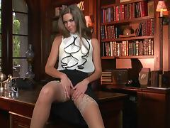 Breath-taking solo clip with gorgeous office girl Adrienne Manning