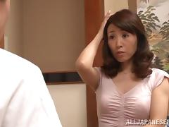 Sexy Japanese Cougar 69's Then Rides Her Man's Cock porn tube video