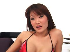 Lucy Lee gives a guy a massage before he fucks her
