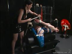 Sexy brunette have a great time pleasing and torturing one another