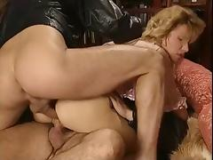 Blond double penetrated