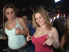 Marvelous Ladies With Natural Tits In Bra Enjoying Party